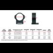 Fix Gyűrűpár Weaver Sínre / Alacsony / 30mm/ WARNE MAXIMA HORIZONTAL