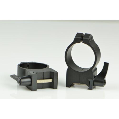 Oldható Gyűrűpár Weaver Sínre / Magas / 30mm/ WARNE MAXIMA 215LG FÉNYES FEKETE
