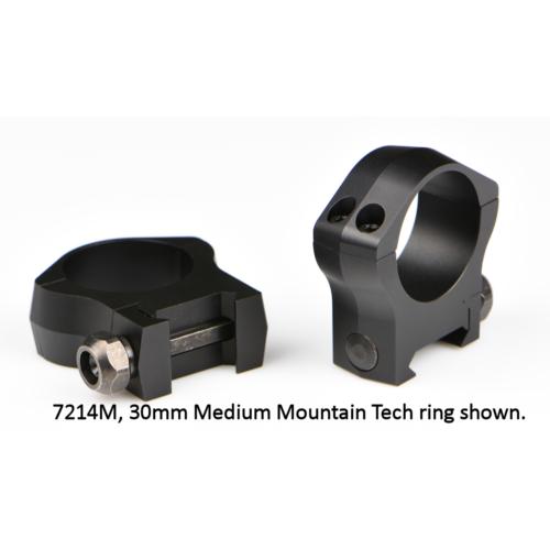 Oldható Gyűrűpár Weaver Sínre / 25,4mm / Középmagas / Warne   XP 7201M