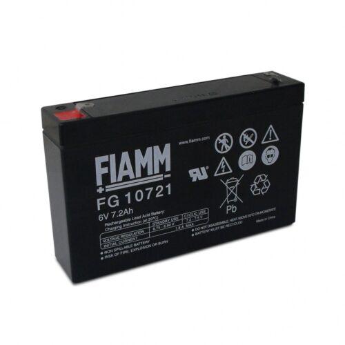 Akkumulátor FIAMM 6V, 7.2 Ah Zselés