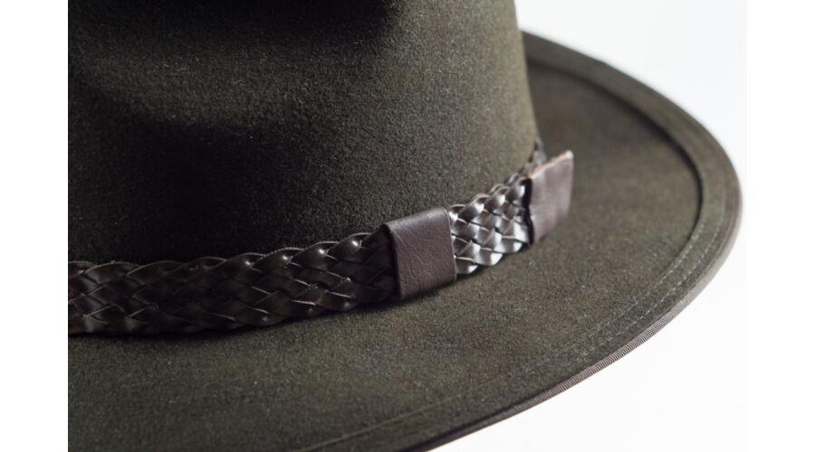Tisza KITZ nyúlszőr kalap sötétzöld műbör fonattal - Kalapok ... 3226069187